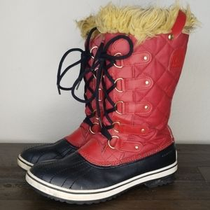 Sorel Tofino Red Waterproof Boots Size 10